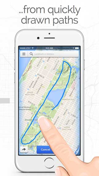 تطبيق Footpath Route Planner لرسم وتحديد وجهتك
