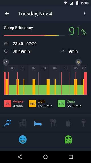 تطبيق Sleep Better with Runtastic لنوم هادئ وصحي ومفيد