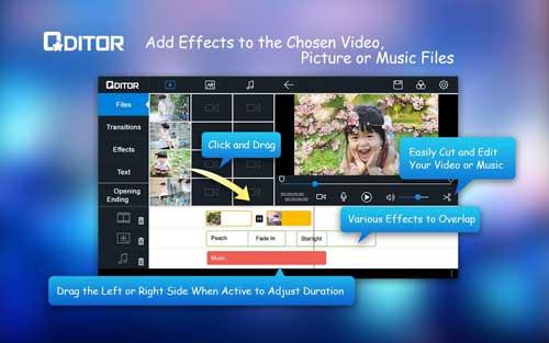 تطبيق Qditor من أفضل تطبيقات تحرير الفيديو للاندرويد