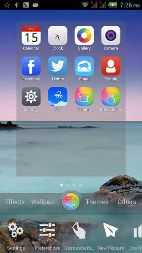 تطبيق One Launcher للحصول على تصميم نظام iOS 8