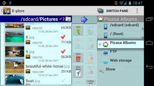تطبيق X-plore File Manager مدير ملفات احترافي للاندرويد