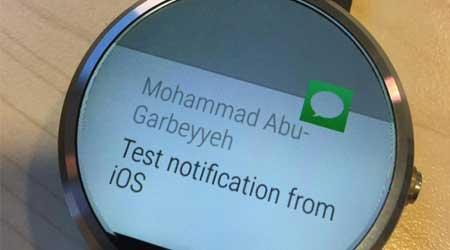 مطور عربي ينجح في جعل ساعة الاندرويد وير تقترن بالأيفون