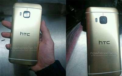 صور مسربة لجهاز HTC One M9 ذو اللون الذهبي