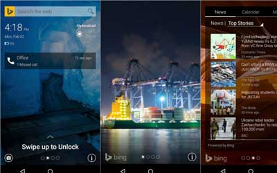 تطبيق Picturesque Lock Screen شاشة قفل من مايكروسوفت