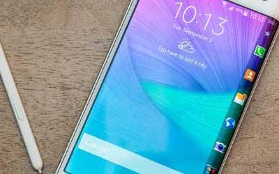 صورة جهاز Galaxy Note Edge يبدأ بالحصول على الاندرويد 5.0.1