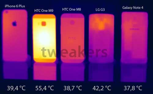 تحديث جهاز HTC One M9 لحل مشكلة الحرارة المرتفعة