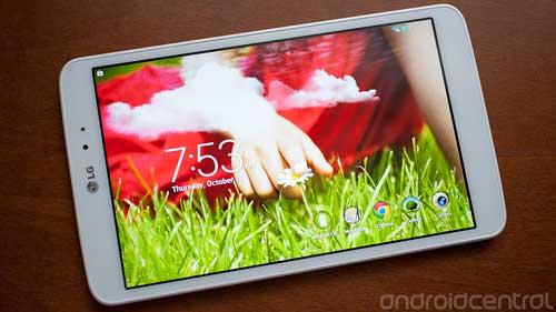 شركة LG تبدأ توفير تحديث الأندرويد المصاصة للوحيات LG G Pad
