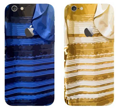 غطاء أيفون 6 بلون الفستان الغريب