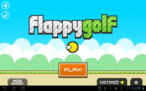 لعبة Flappy Golf الكلاسيكية الجميلة من فئة ألعاب البكسل