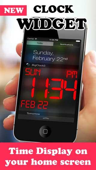 تطبيق iDigital Big3 Alarm Clock Widget لعرض الساعة على شاشة جهازك