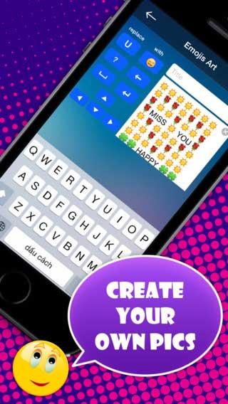 تطبيق Emoji Keyboard لوحة وجوه وفيسات رائعة