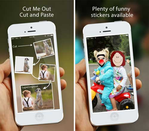 تطبيق Cut Me Out Pro لإضافة الملصقات على الصور