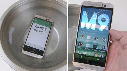 فيديو: اختبار جهاز HTC One M9 في الماء لمدة 20 دقيقة ماذا حصل؟