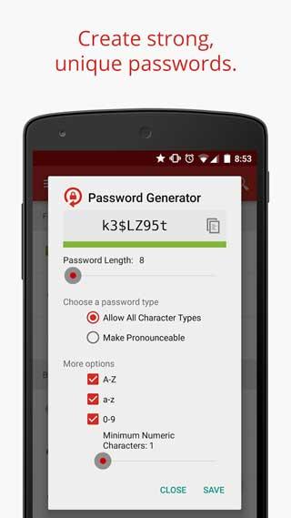 تطبيق LastPass لحفظ كلمات المرور ومزامنتها للاندرويد