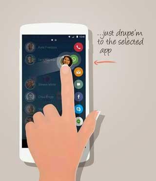 تطبيق drupe للتحكم في طريقة محادثة جهات الاتصال