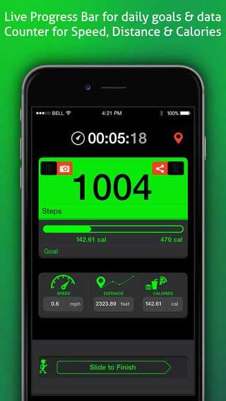 تطبيق Go Pedometer لمتابعة خطواتك وحالة جسمك