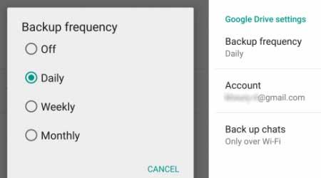تحديث جديد للواتس آب: يضيف ميزة حفظ نسخة احتياطية على جوجل درايف