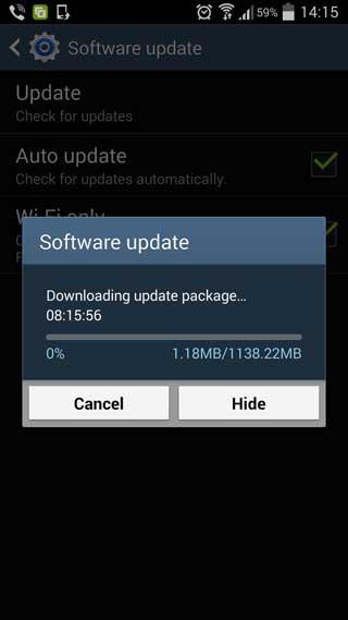 جهاز جالاكسي S4 يبدأ بالحصول على الأندرويد 5.0 في العراق