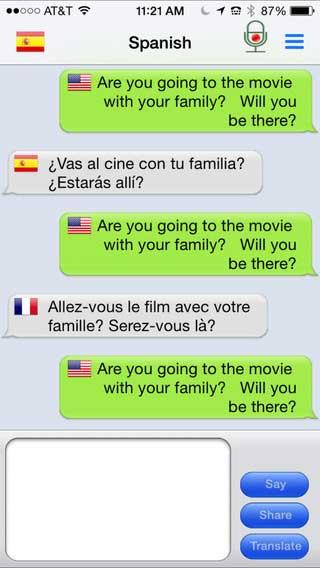 تطبيق mText2Speech لتحويل النصوص إلى كلام مترجم