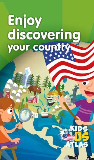 تطبيق Kids U.S. Atlas لتعرف الأطفال بالولايات المتحدة الأمريكية