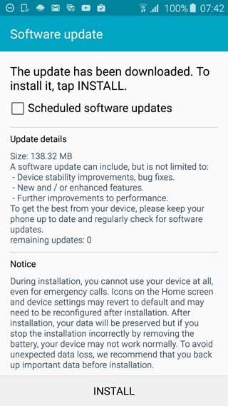 تحديث جديد لجالاكسي S6 و S6 إدج لحل مشاكل الذاكرة