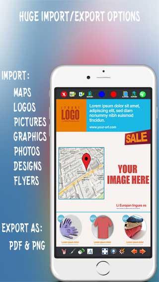 تطبيق Create Flyers & Logos لتصميم الشعارات والبطاقات المتنوعة