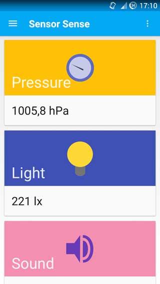 تطبيق Sensor Sense لقياس عدة أمور في مكان واحد