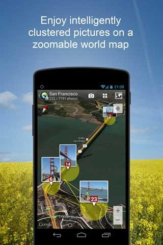 تطبيق PhotoMap لعرض مكان التقاط الصور على الخريطة