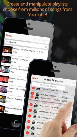 تطبيق Music TV لتشغيل القوائم الصوتية على يوتوب