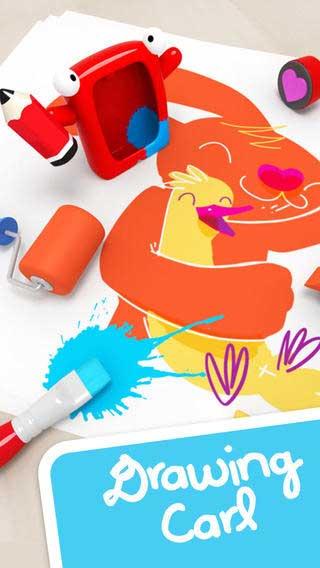 تطبيق Drawing with Carl لتعليم الرسم مع الترفيه