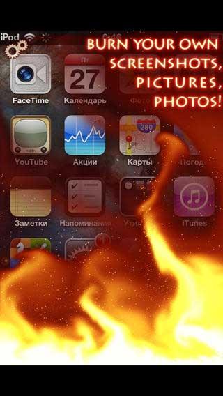 تطبيق iFire++ لجعل جهازك كأنه يحترق مسلي وممتع