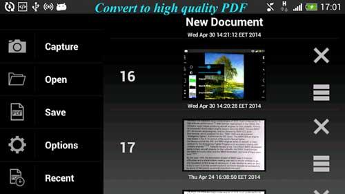 تطبيق PDF Scanner لتحويل الصور إلى نصوص وPDF