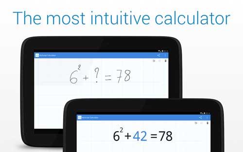 تطبيق MyScript Calculator آلة حاسبة للمتخصصين في الرياضيات