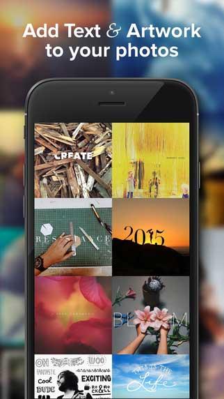 تطبيق Over للكتابة على الصور وإضافة الملصقات