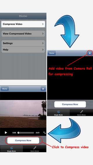تطبيق Compress Video لضغط مقاطع الفيديو