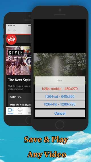 تطبيق iBlipTV لتنزيل الفيديو حتى من يوتوب