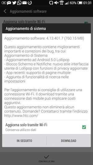 جهاز HTC One Max يبدأ بالحصول على الأندرويد 5.0