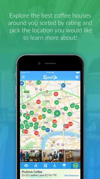 تطبيق BeanGo - دليلك لأفضل المقاهي حول العالم
