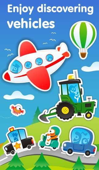 تطبيق Planet Go لتعليم الأطفال أنواع المركبات