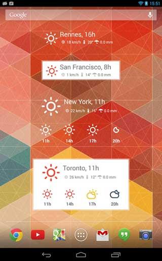 تطبيق Nice Weather لعرض حالة الطقس على الاندرويد