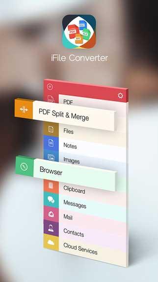 تطبيق iFiles Converter لإدارة، تحويل ودمج الملفات المختلفة