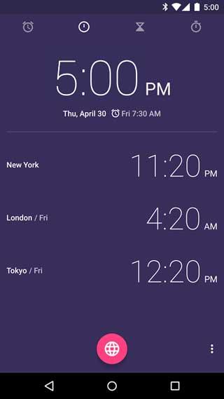 تطبيق الساعة Clock من جوجل بشكل رسمي للاندرويد