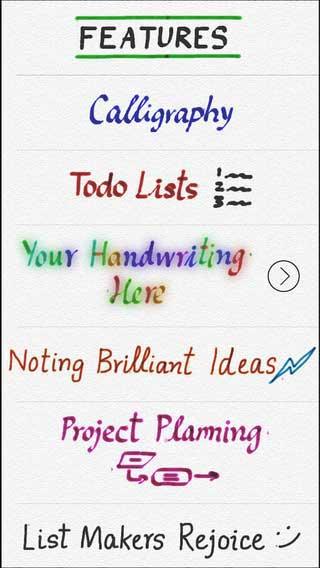 تطبيق Handwriting للكتابة بواسطة إصبعك بخطوط رائعة
