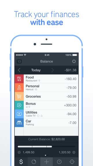 تطبيق Saver 2 لإدارة مصاريفك المالية