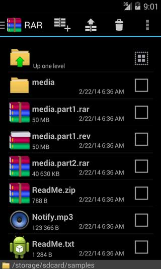 تطبيق RAR for Android لضغط وفك الضغط عن الملفات
