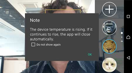 فيديو: جهاز سوني +Xperia Z3 يعاني من مشكلة ارتفاع درجة الحرارة
