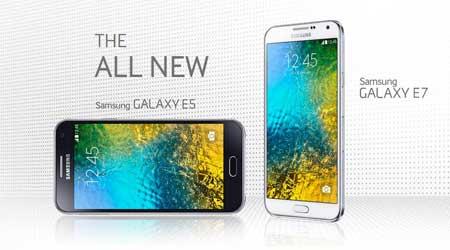 جهاز Galaxy E5 وE7 سيحصلان على الأندرويد المصاصة !