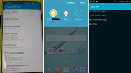 صورة فيديو: استعراض الأندرويد 5.1.1 على جالاكسي S6 و S6 إدج