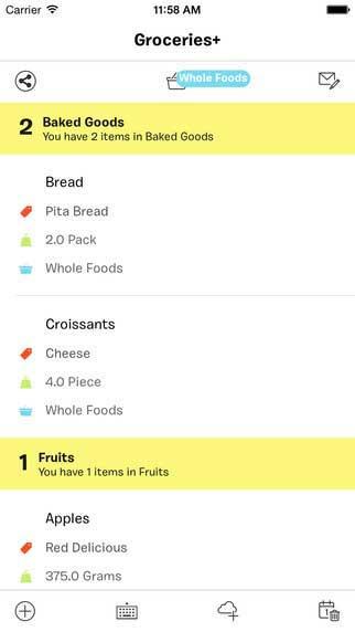 تطبيق Groceries+ لتنظيم وإدارة قائمة المشتريات