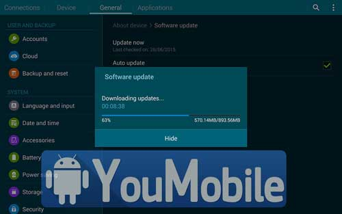 لوحي سامسونج Galaxy Tab 4 8.0 يبدأ بالحصول على اندرويد 5.1.1
